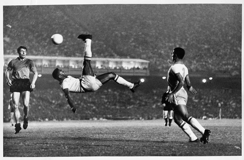 Bicycle kick in soccer is the virtuosity systematically